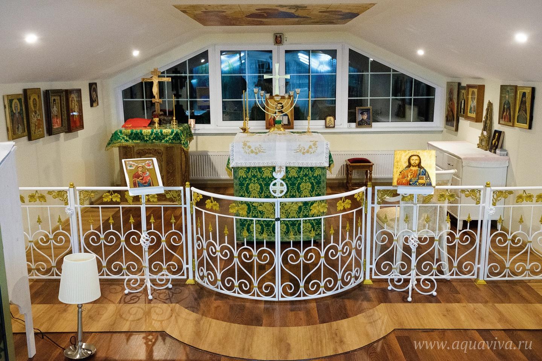Прошлым летом в «Доме трудолюбия» был освящен храм преподобного Симеона Печерского