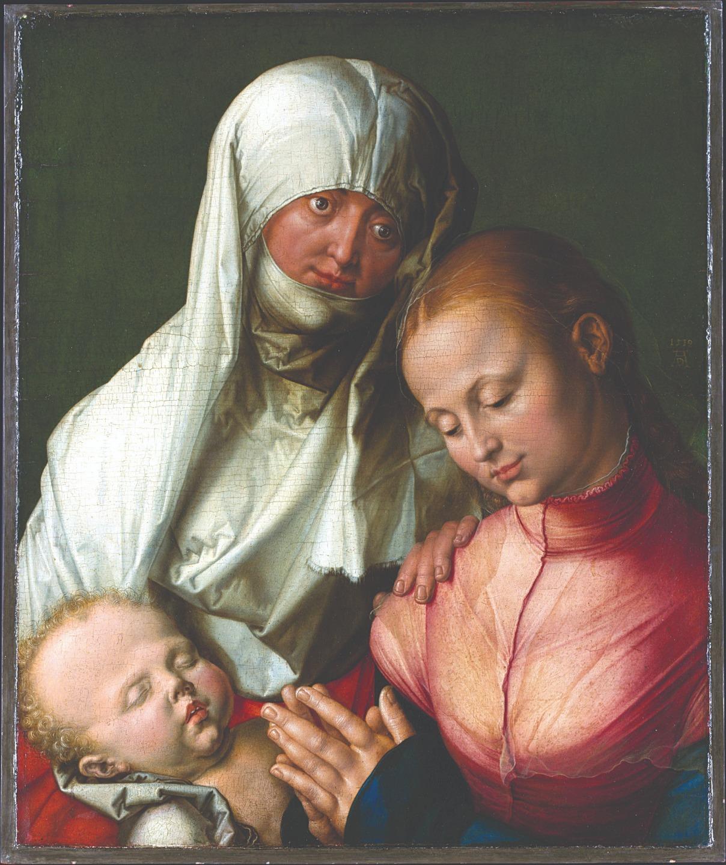 Альбрехт Дюрер. Мадонна с младенцем и святой Анной. 1519 год