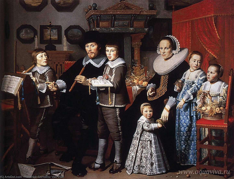 Хендрик Корнелис ван Флит. Портрет семейства ван дер Дюссен. XVII век