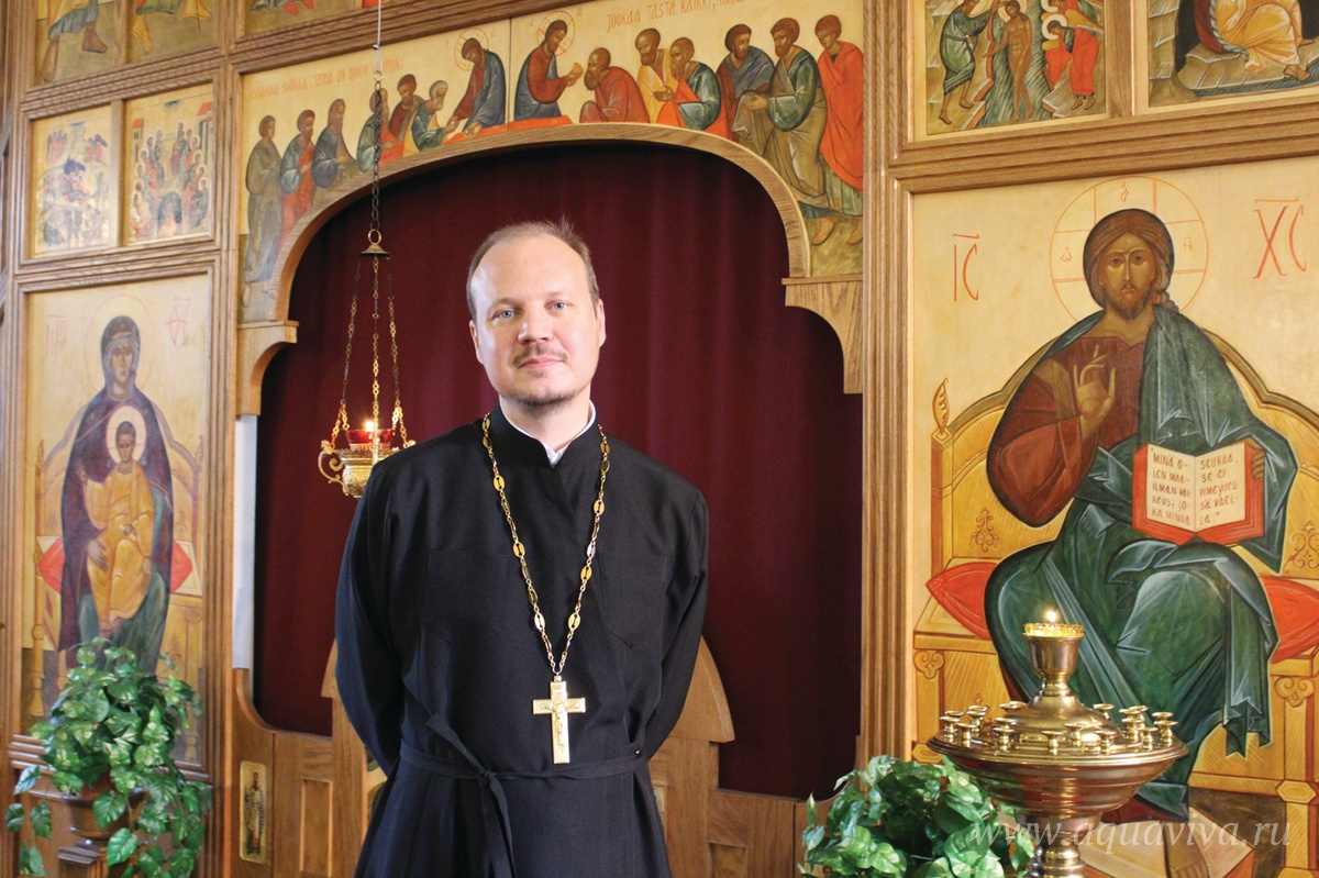 Священник Вилле Киивери, настоятель Крестовоздвиженского храма