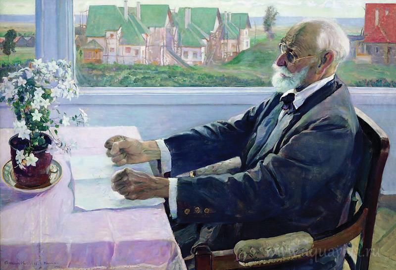 М. Нестеров. Портрет И. П. Павлова. 1935 год.