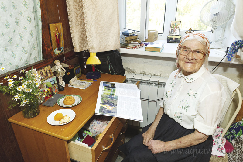 Нина Артемьевна Никаева, насельница богадельни, 81 год