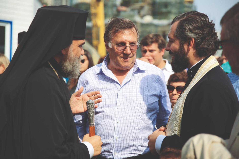 Митрополит Тамасосский и Оринийский Исаия, Вячеслав Заренков, протоиерей Евгений Шогенов