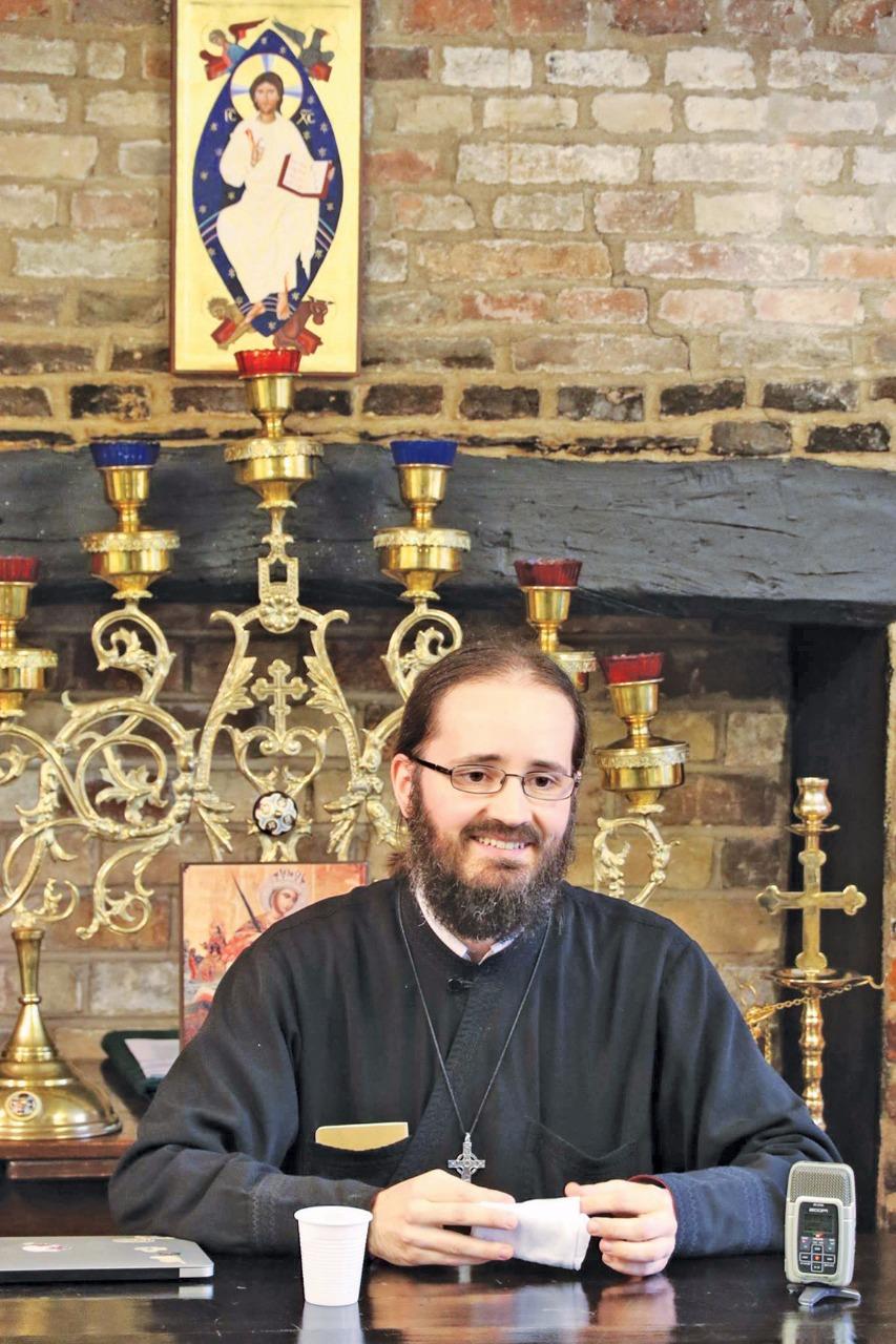 Докладчик из Кембриджа иеромонах Серафим (Альдеа)