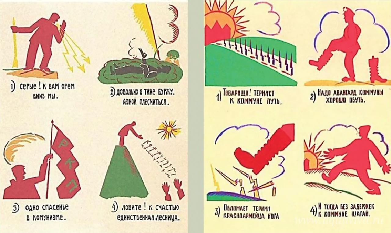 Плакаты Маяковского для окон РОСТА. 1919–1921 годы
