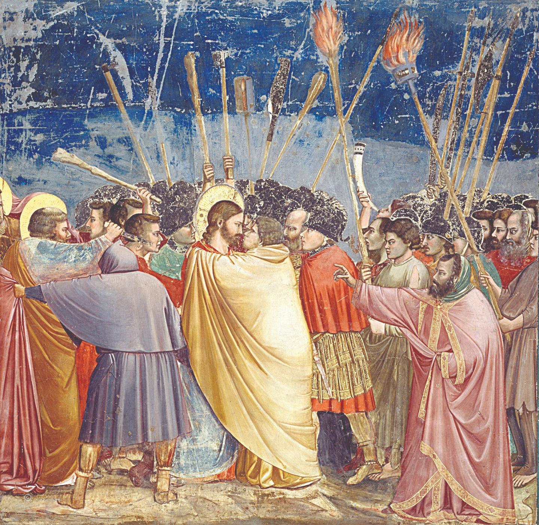 Джотто ди Бондоне. Поцелуй Иуды. Капелла Скровеньи. 1304–1306 годы