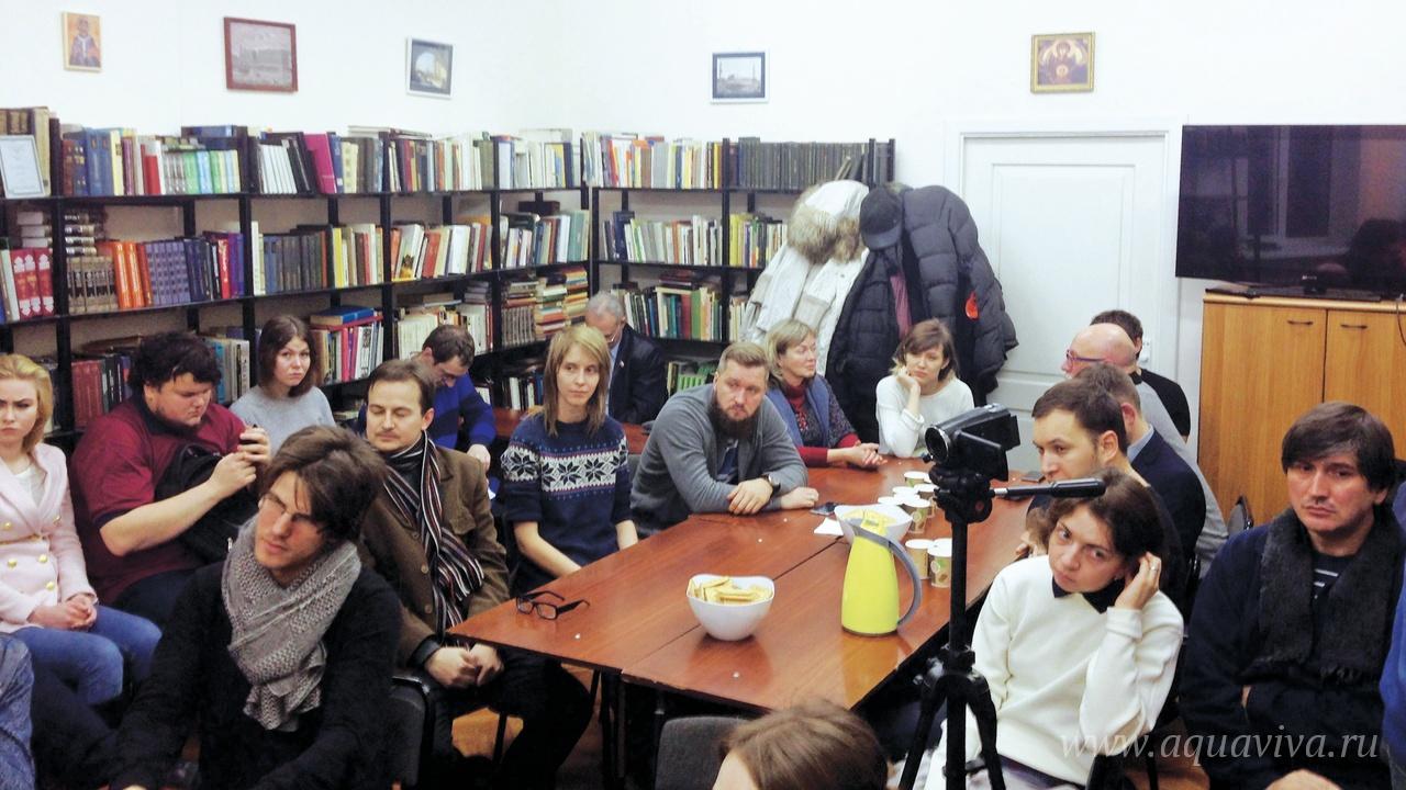 Встреча с П.А. Сапроновым, директором Института богословия и философии, 18 ноября 2016 года