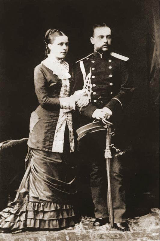 Леонид Михайлович с супругой Натальей Николаевной. 1880 год