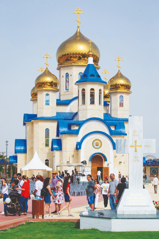 Храм святого апостола Андрея Первозванного и Всех святых, в земле Русской просиявших, в день фестиваля «КипРус». 1 мая 2018 года
