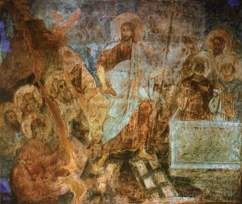 Сошествие во ад. Фреска Софийского собора в Киеве