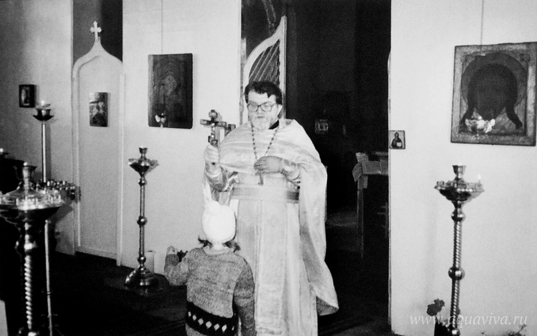 Литургия в храме на Конюшенной площади. 1992-1993 годы