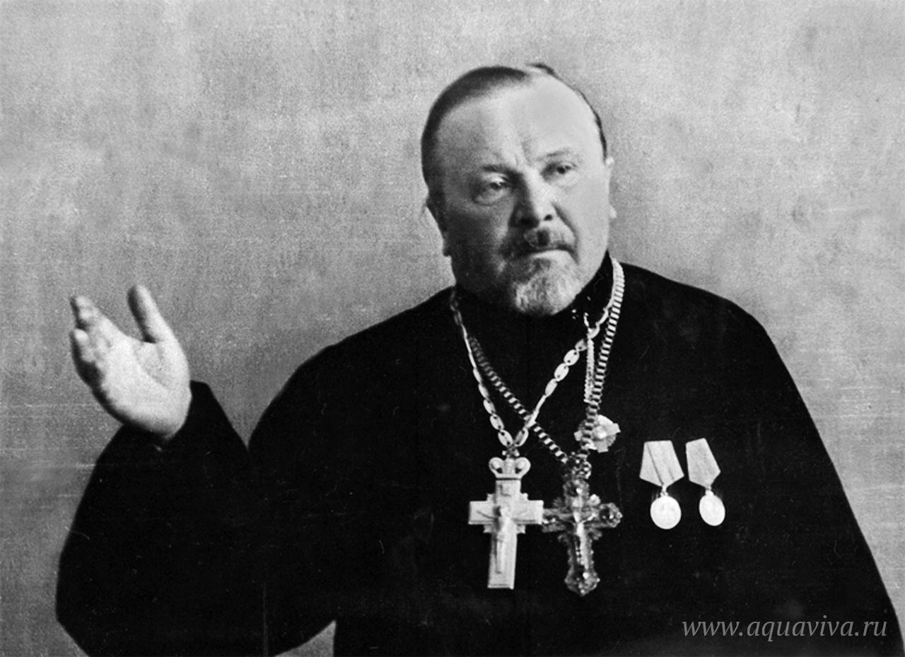 Протоиерей Николай Ломакин дает показания на Новгородском суде 1947 года