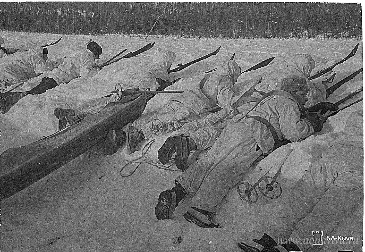 Финская пехота на позициях. 21 февраля 1940 года