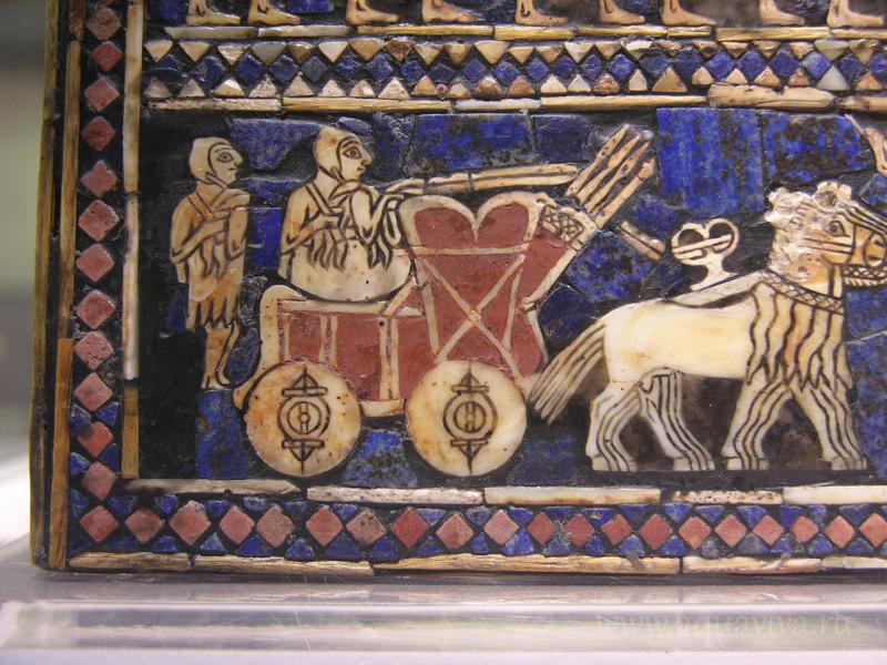 Фрагмент изображения из царской гробницы в городе Уре. 2900-2400 гг. до н.э.