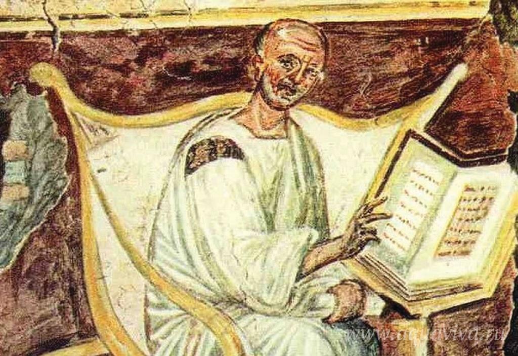 Древнейшее изображение блаженного Августина. Фреска. Латеран. VI век