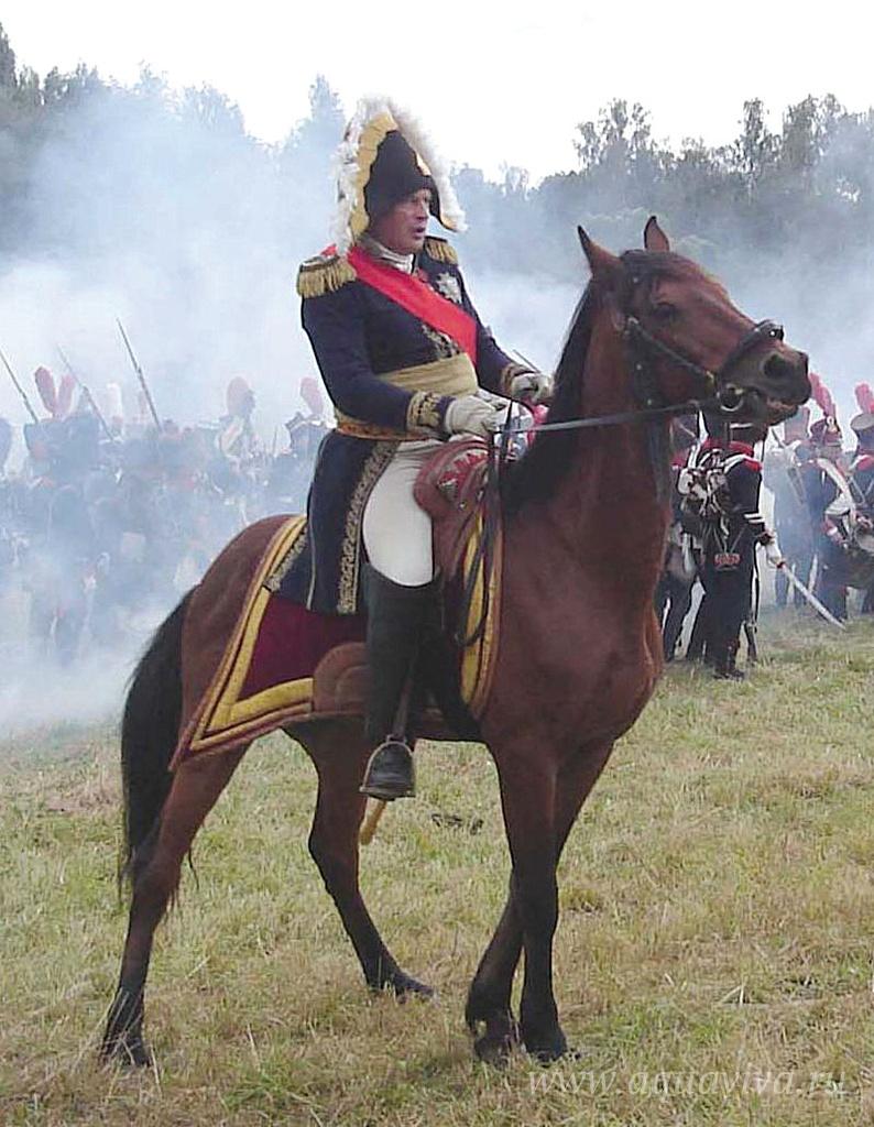 Олег Соколов, специалист по военной истории Франции, руководит реконструкцией Бородинского сражения (2005).