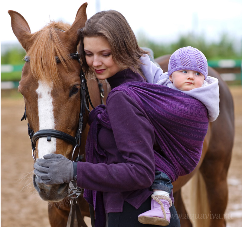 Наталья О-Шей с младшей дочерью