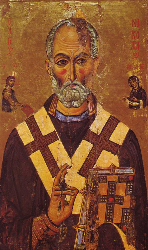 Икона святителя Николая из монастыря Святой Екатерины, XIII век