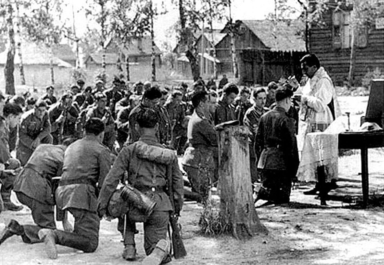 Католическое богослужение. Пушкинский район. 1943 год
