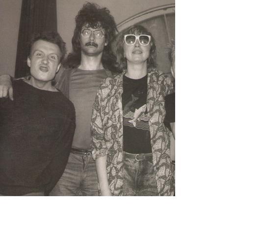 """Андрей """"Дюша"""" Михайлов, Вячеслав Харинов, Марьяна Цой, 1988 год"""