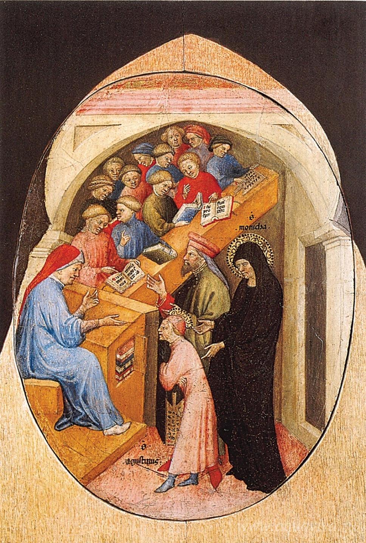 Николо ди Пьетро. Святой Августин, приведенный в школу святой Моникой. 1413–1415 годы
