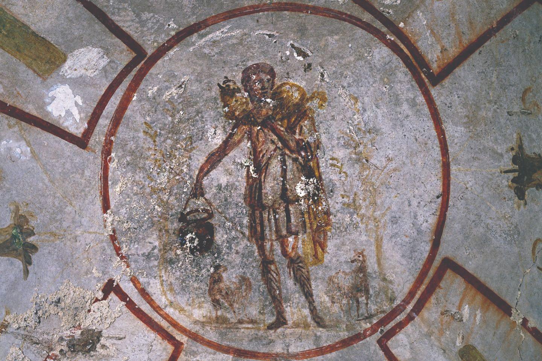 Пастырь добрый. Катакомбы святого Каллиста. Рим. III век