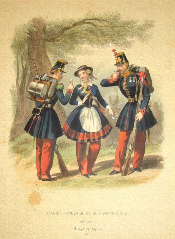 «Французская армия и ее маркитанты». Гравюра времен второй империи (1852–1870)