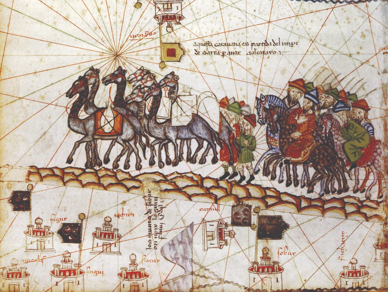 Караван Марко Поло. Каталонский атлас. 1375 год