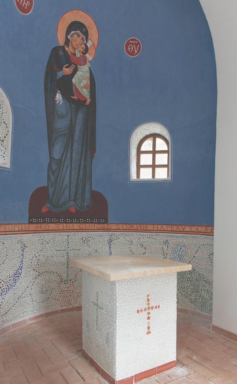 Интерьер храма святого Леонида в Ялкале. Филипп Давыдов