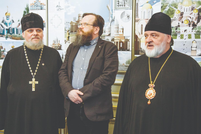 Протоиерей Леонид Калинин, Михаил Мамошин и епископ Кронштадтский Назарий