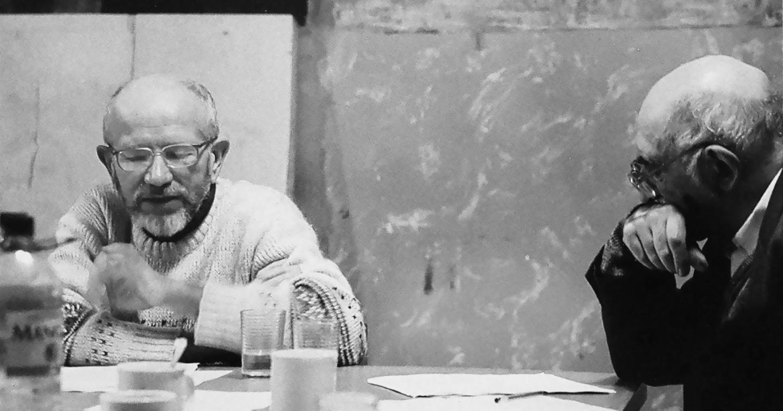 Владимир Бибихин и Александр Пятигорский. II Рижский философский симпозиум «Слово, что я говорю». Звартава, Латвия. 2001 год