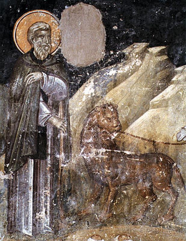 Святые не только восстанавливают гармонию, утраченную после грехопадения Адама, но и приводят животных к Богу, распространяя действие спасительного Промысла на животный мир. Например, христианский монах и святой V в. Герасим Иорданский (†475), согласно его житию, исцелил пришедшего к нему льва и фактически сделал его своим послушником: «его послушанием было охранять ослика, который приносил воду».