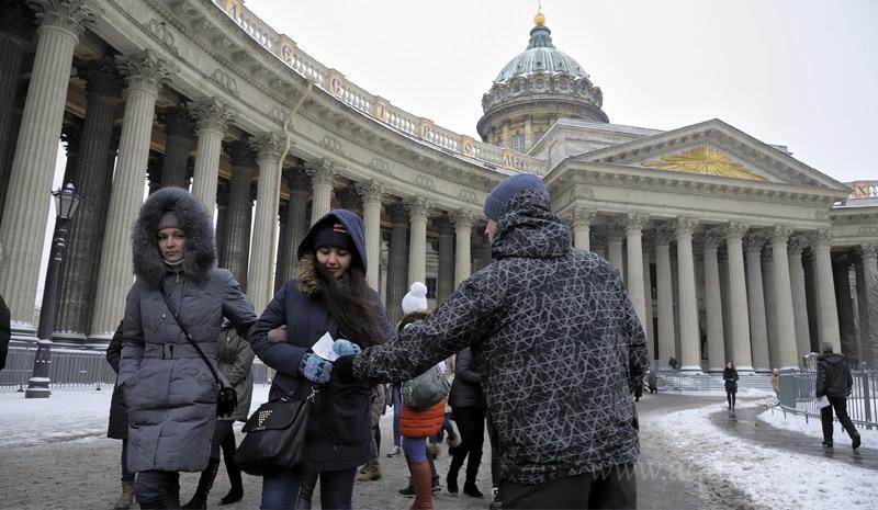 Прихожане Казанского собора сначала принимали Андрея Андреева за политического агитатора