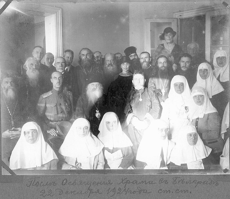 Митрополит Антоний (Храповицкий) и П. Н. Врангель после освящения храма в Белграде. 4 января 1925 года