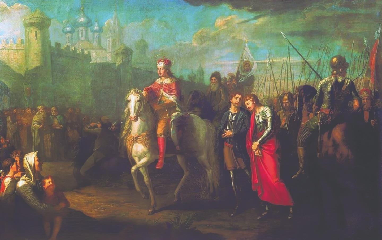 Г.И. Угрюмов. Торжественный въезд Александра Невского в город Псков после одержанной им победы над немцами. 1793 год