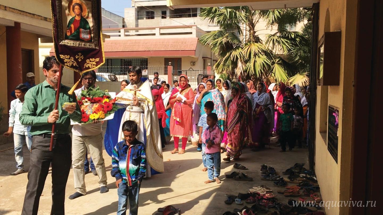 В Индии богослужения проводятся обычно в домах верующих