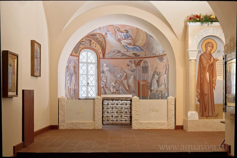 Фреска архимандрита Зинона (Теодора) в нижнем храме Феодоровского собора