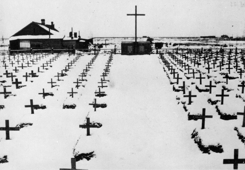 Испанский госпиталь и кладбище. Григорово (Новгород). 1941 год