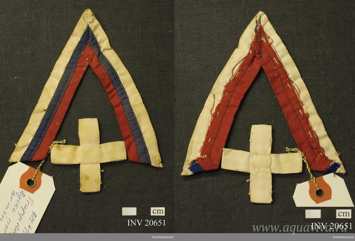 Нарукавный знак Северо-Западной армии, принадлежавший Гуннару Самцелиусу, подпоручику Шведского Белого легиона (добровольческий отряд в составе СЗА)