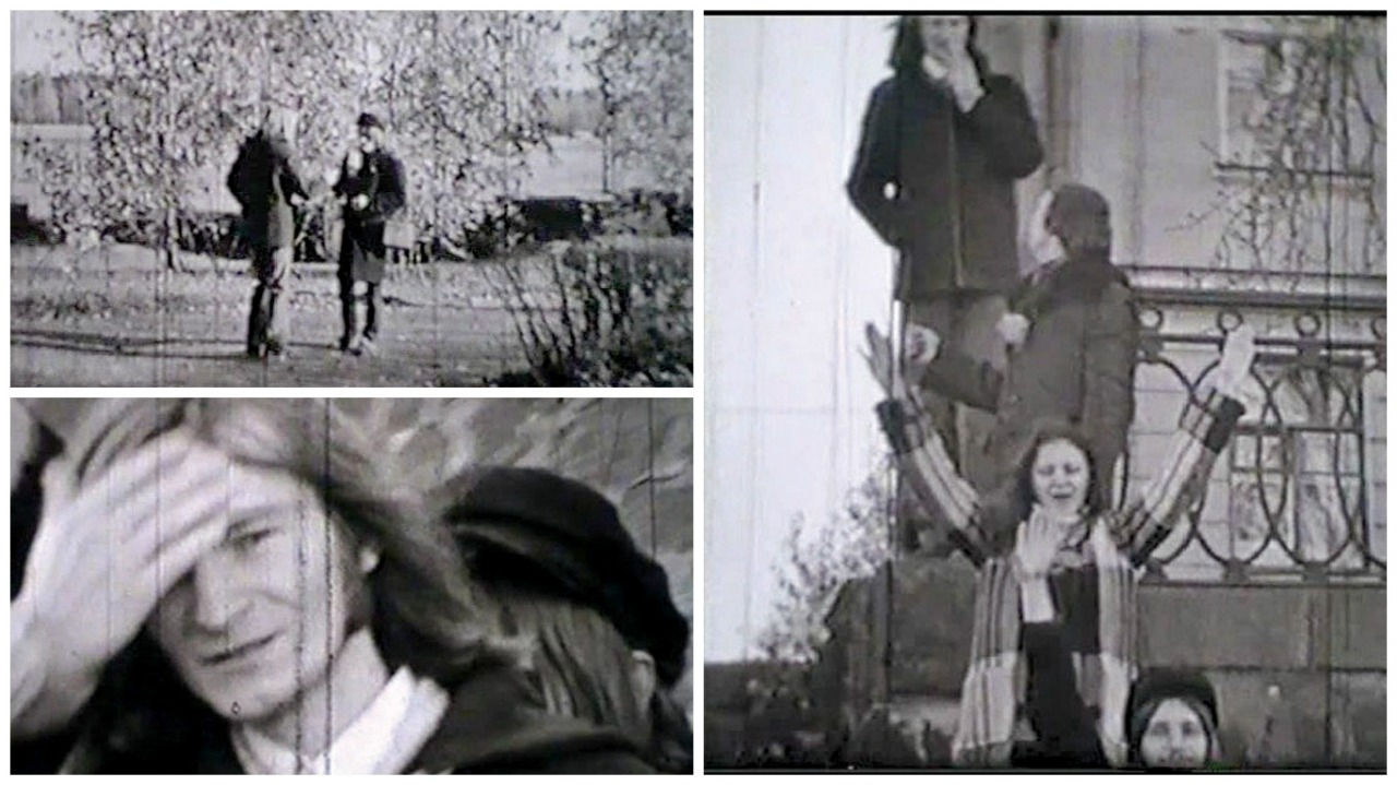 Кадры из любительской кинохроники осени 1974 года