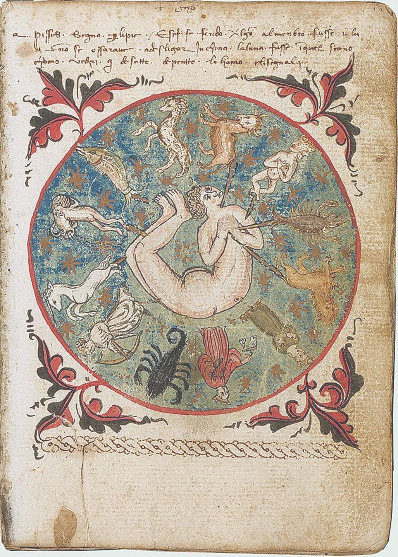 Соотношение знаков Зодиака и частей человеческого тела. Миниатюра из книги Михаила Родосского. 1434 год. Астрология — пример того, насколько живучими являются представления о безличной судьбе