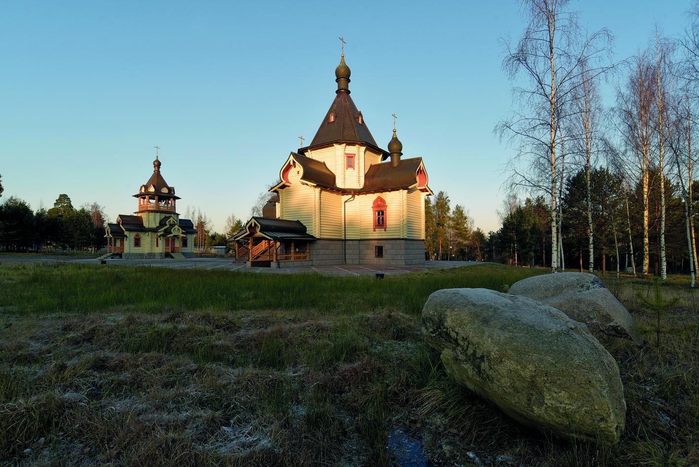 Храм Сретения Господня на второй площадке центра в поселке Красноармейское