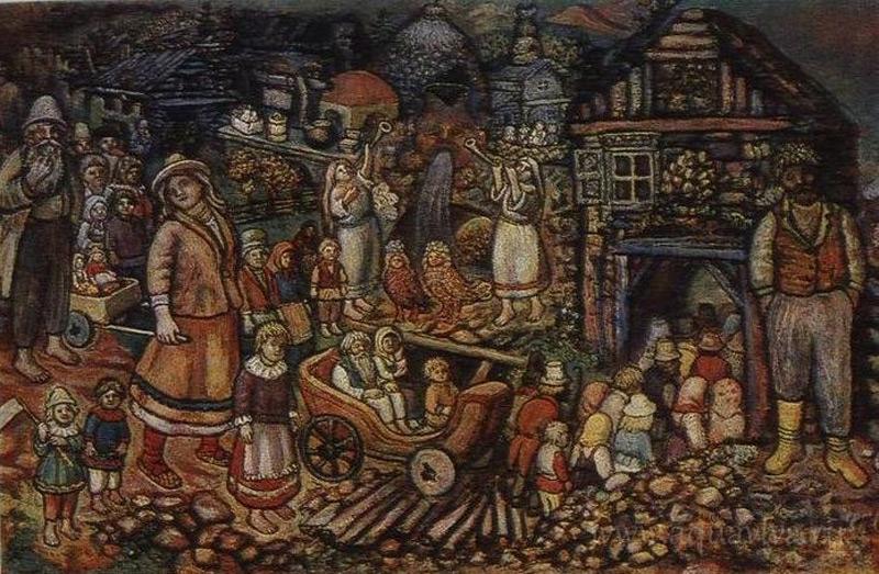 Е. В. Честняков. Вход в Город Всеобщего благоденствия