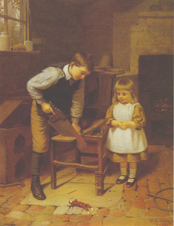 Гарри Брукер. Строительство кукольного домика. 1897 год