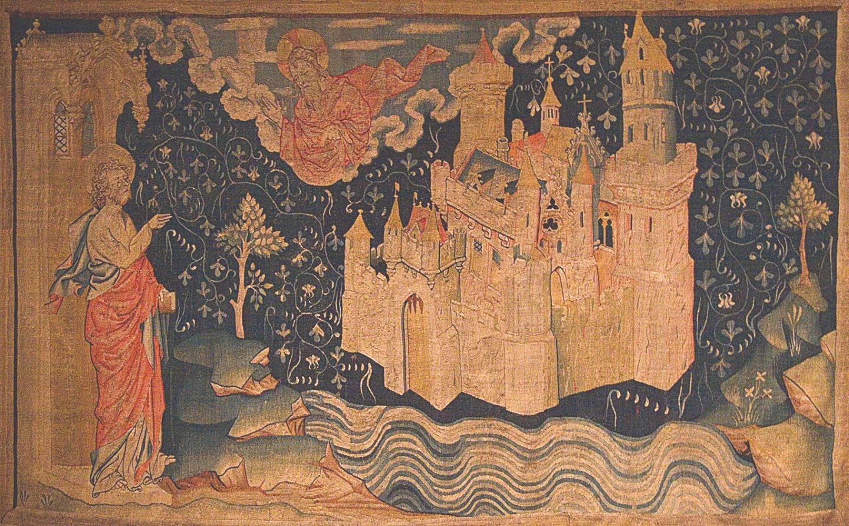 Жан де Бондоль. Видение Небесного Иерусалима. Одна из шпалер серии «Анжерский Апокалипсис». 1373–1381 годы
