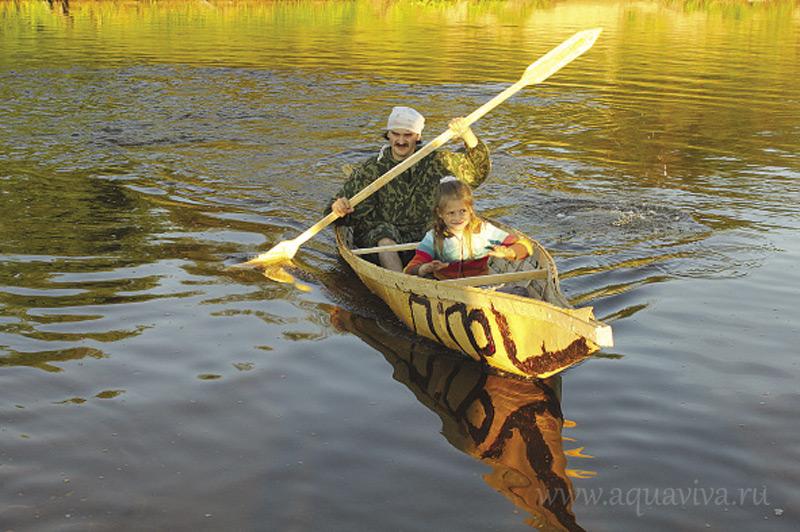 Эту «лодку эвенков» Андрей подарил Наташе на 10-летие свадьбы