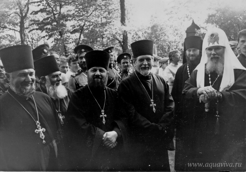 Во время пастырского визита патриарха Алексия II в Санкт-Петербург. 1990 год
