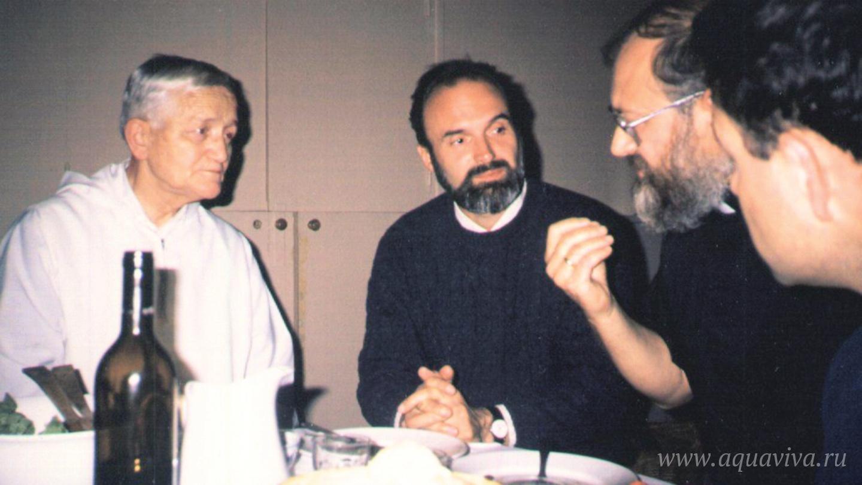 С основателем общины братьев Тэзе братом Роже (Роже Луи Шютцем)