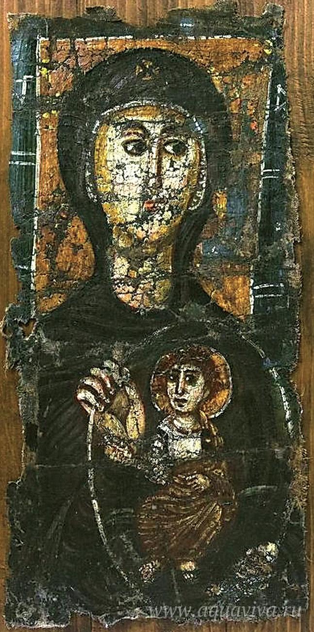 Богоматерь с Младенцем. Египет. VI век