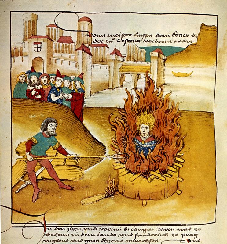 Сожжение Яна Гуса в Констанце. Хроника Спицера Шиллинга. 1485 г.